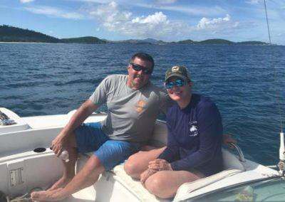 On a boat St John US Virgin Islands