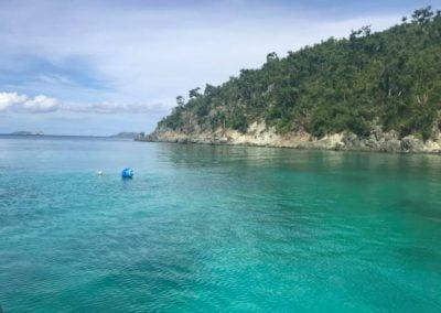 Blue water of St John US Virgin Islands