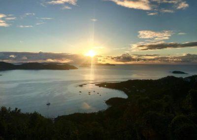 Sunset at Joy of Life Villa St John US Virgin Islands