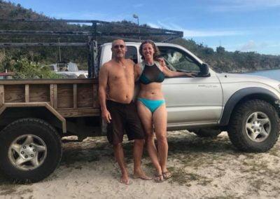 At the beach St John US Virgin Islands