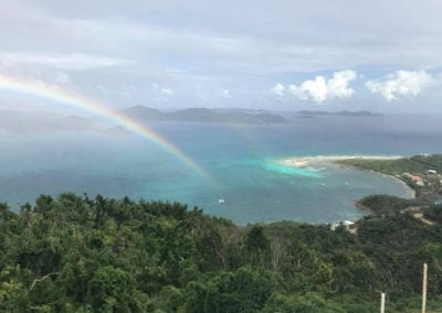rainbow on boat view st john us virgin islands