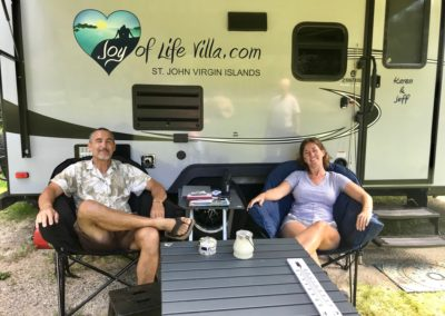 Outside the Joy of Life Villa Camper
