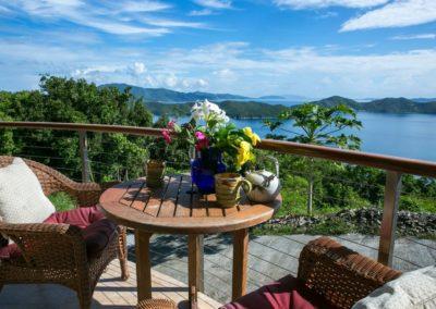 Morning on the Deck in St John Virgin Islands